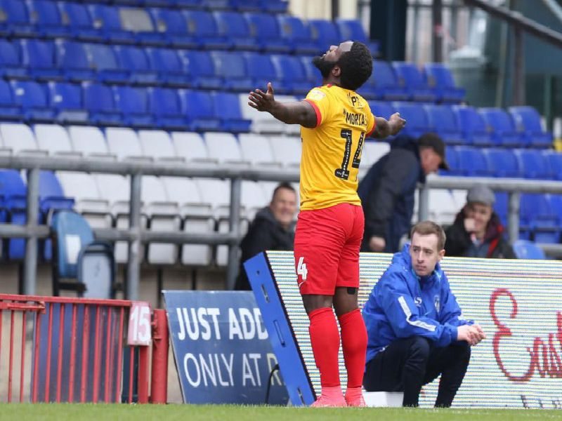 FIVE-STAR COBBLERS! Junior Morias added the gloss to an excellent away day for Northampton on Saturday.
