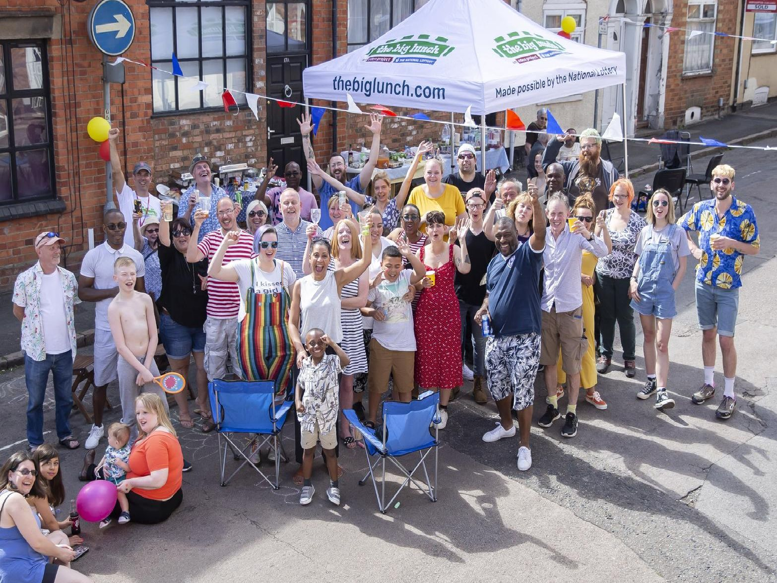 The Big Lunch event at The Mounts, Northampton