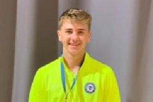 Reece Drage from Northampton won bronze with Peterbrough Uniteds deaf futsal team at the European Deaf Champions League U-21 Futsal