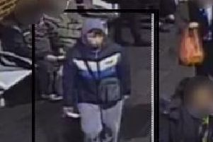Police want to speak to this man, pictured here on CCTV at North Gate bus station.