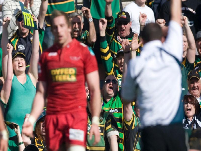 Saints saw off Scarlets at Franklin's Gardens to reach the 2011/2012 showpiece, which they eventually lost to Leicester Tigers at Sixways