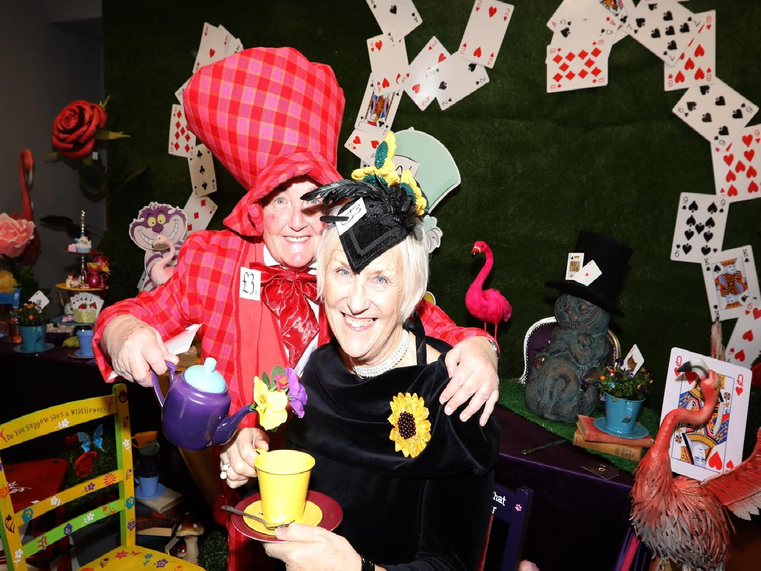 Crazy Hats held a Mad Hatter's Tea Party to celebrate raising 3m