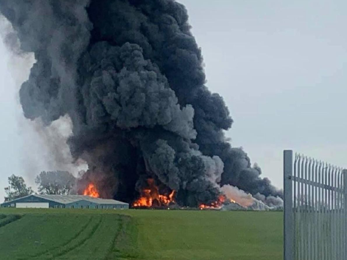 Sywell fire (submitted picture)
