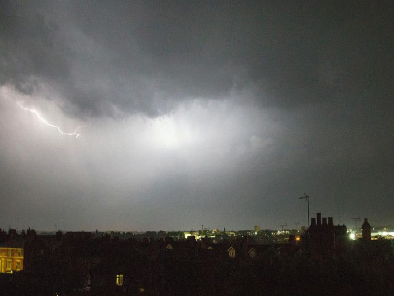 Lightning strikes over Kettering