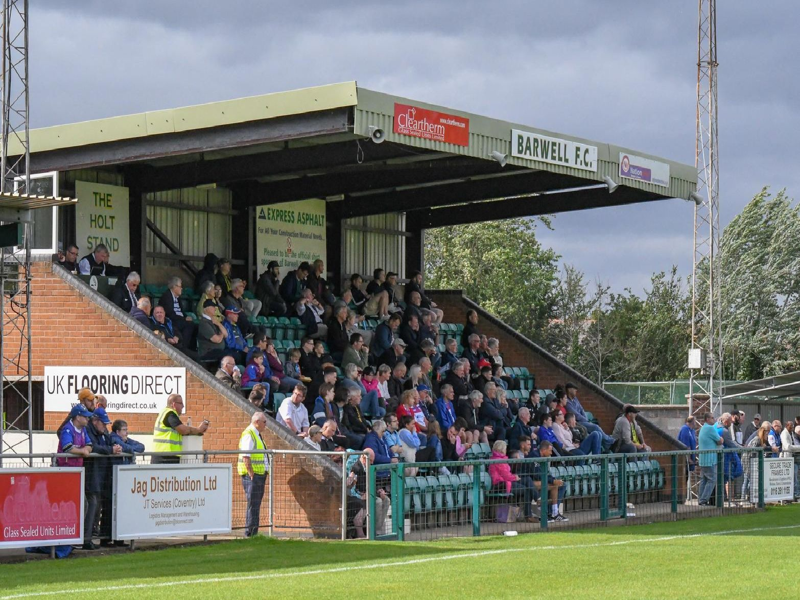 The fans watch on during AFC Rushden & Diamonds' win at Barwell