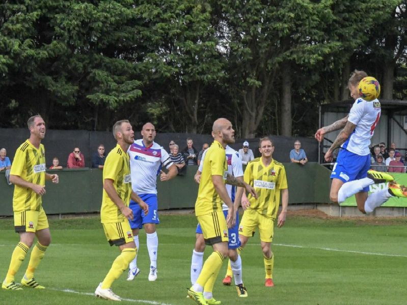 Match action from AFC Rushden & Diamonds' win over Nuneaton Borough at Hayden Road