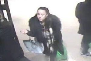A CCTV image of the woman police wish to speak to