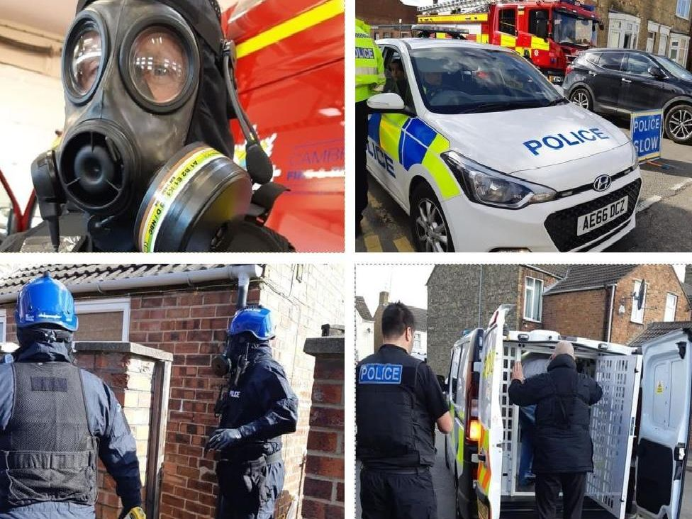 Police carried out 4 raids in Peterborough