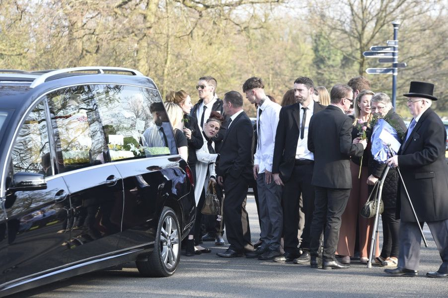 The service at Peterborough Crematorium