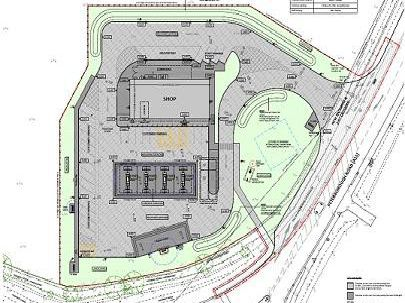 The proposed layout for the service station and M&S store at Market Deeping.