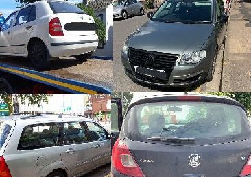 Vehicles seized by the BCH Road Policing Unit