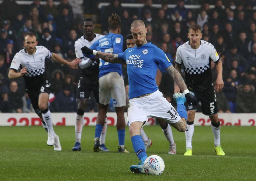 Marcus Maddison scored for Posh against Coventry from the penalty spot. Photo: Joe Dent/theposh.com.