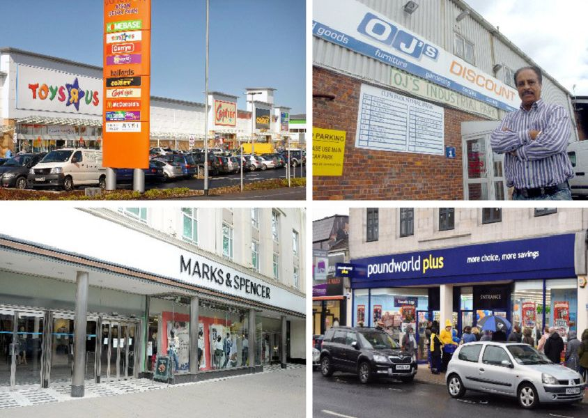 A collage of four shops that closed in Portsmouth in 2018 PPP-191202-151632003