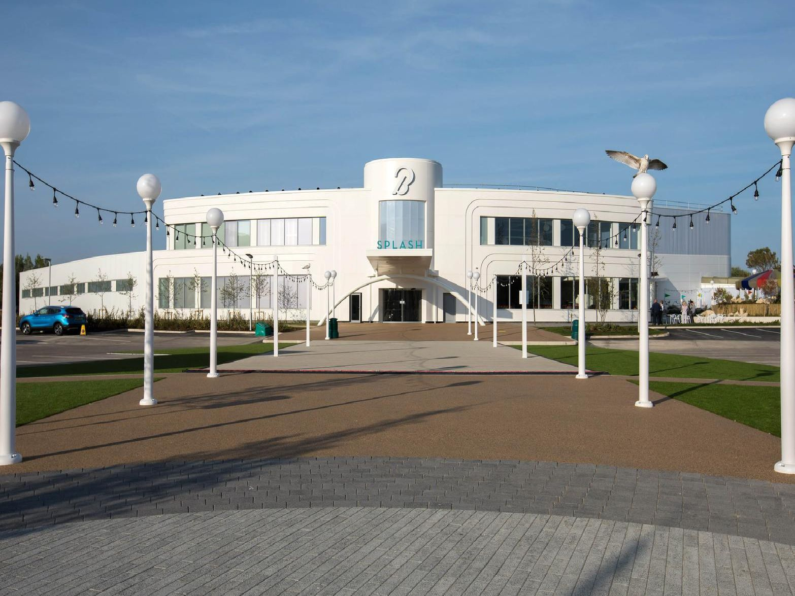 General view of the new Splash 40m swimming pool, which has now officially opened at Butlins holiday resort in Bognor Regis, West Sussex.