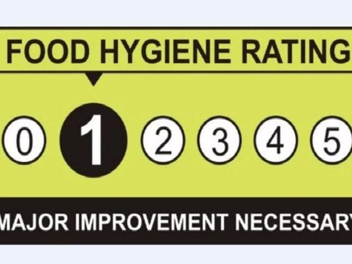 A rating of one for food hygiene means major improvement is necessary