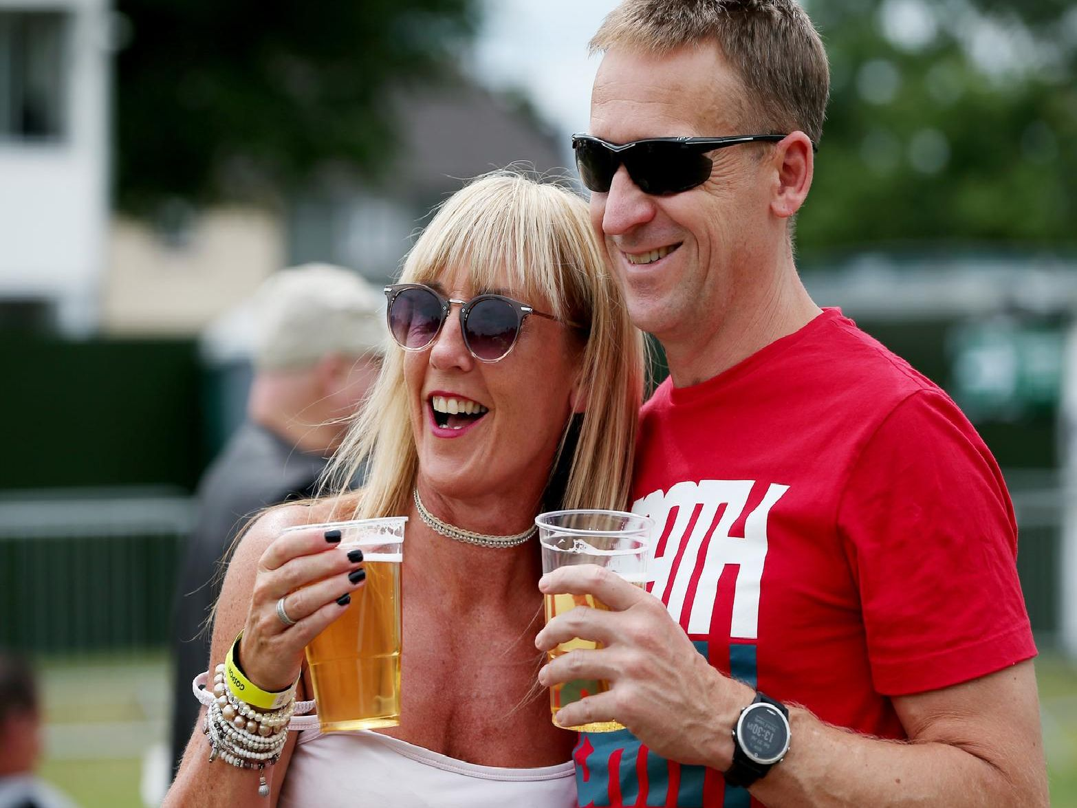 Pete and Angie Brooks. Gosport Waterfront Festival, Walpole Park, Gosport.  Picture: Chris Moorhouse  (270719-66)