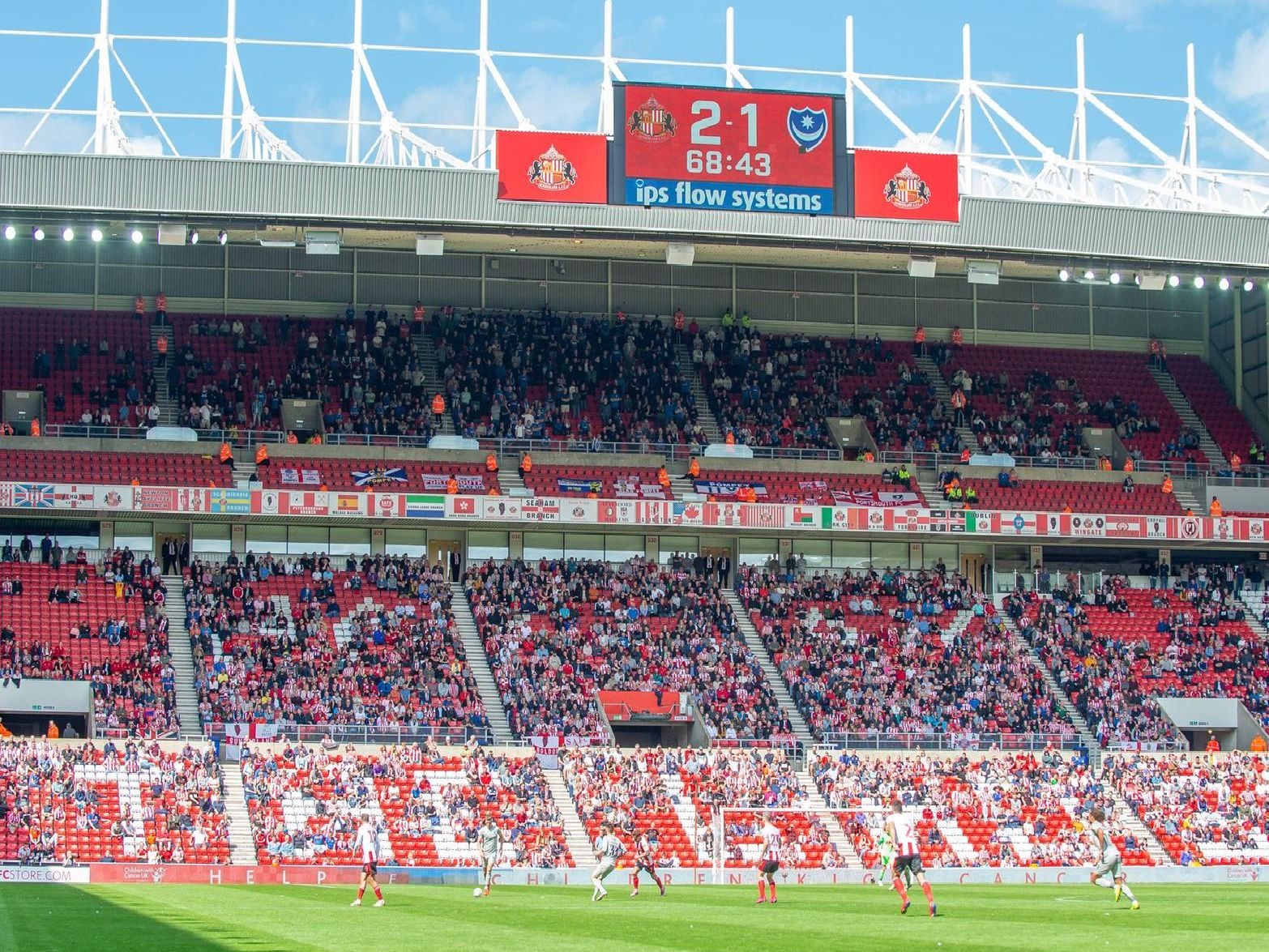 Pompey were beaten 2-1 at the Stadium of Light today. Picture: Malcolm Mackenzie