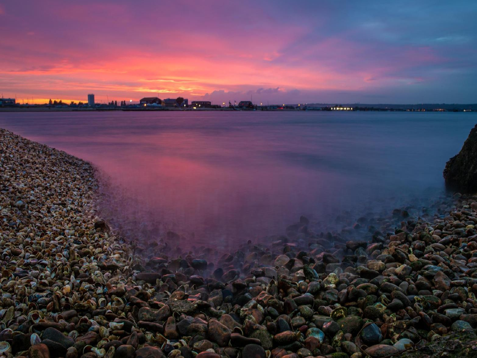 The sun going down over Southsea marina captured by Sean Finch.