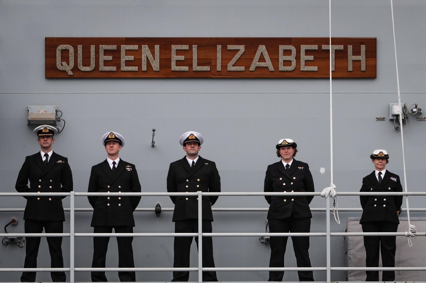 The UKs new aircraft carrier, HMS Queen Elizabeth arrives in Halifax, Nova Scotia this morning, in an historic first visit.