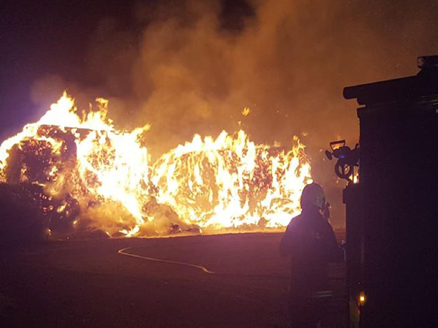 Dramatic pictures capture scale of Titchfield farm fire