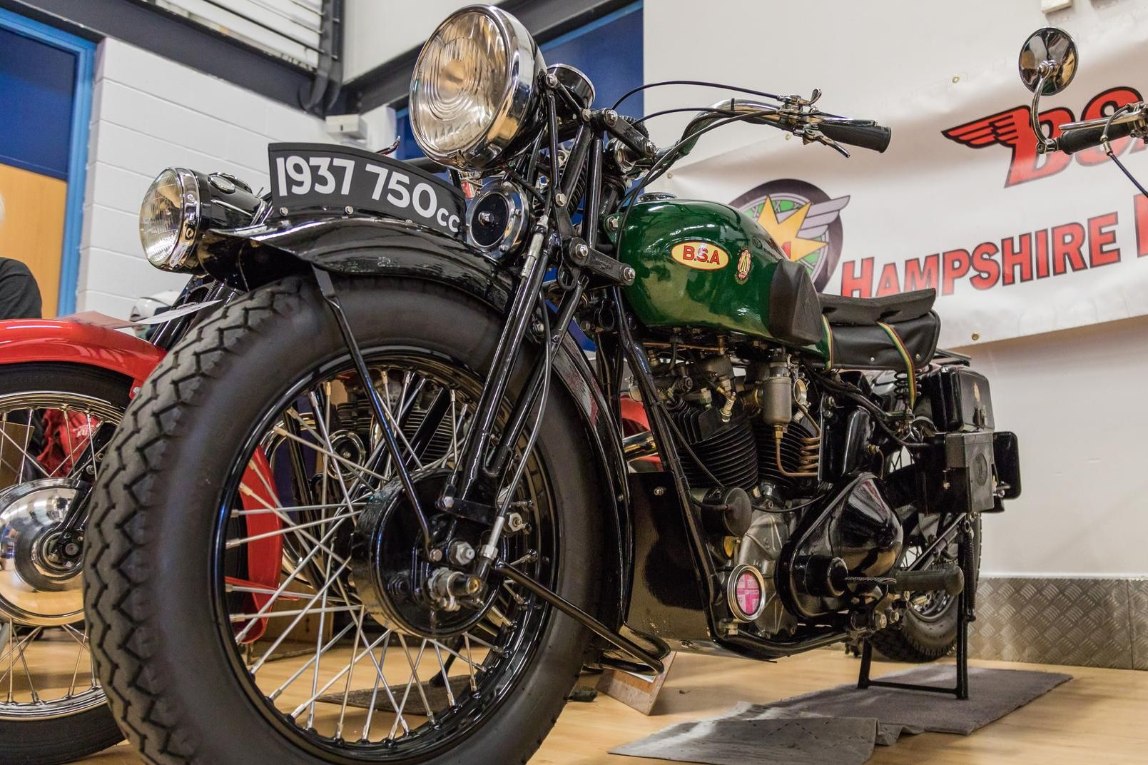 A rare BSA model Y13 from 1937. Picture: Mike Cooter