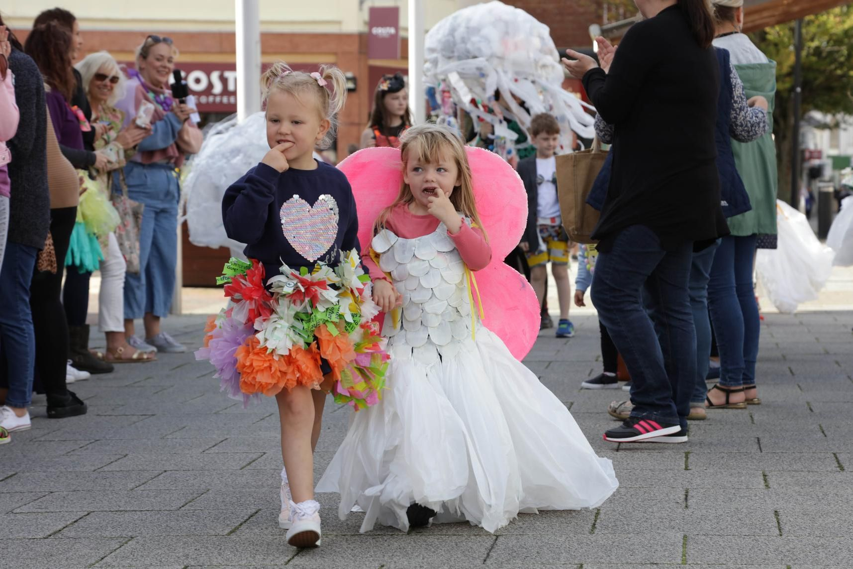 Children from Growing Places nursery schools showed off outfits made of plastic waste at a Rubbish Fashion Show in Fareham and Waterlooville to encourage recycling