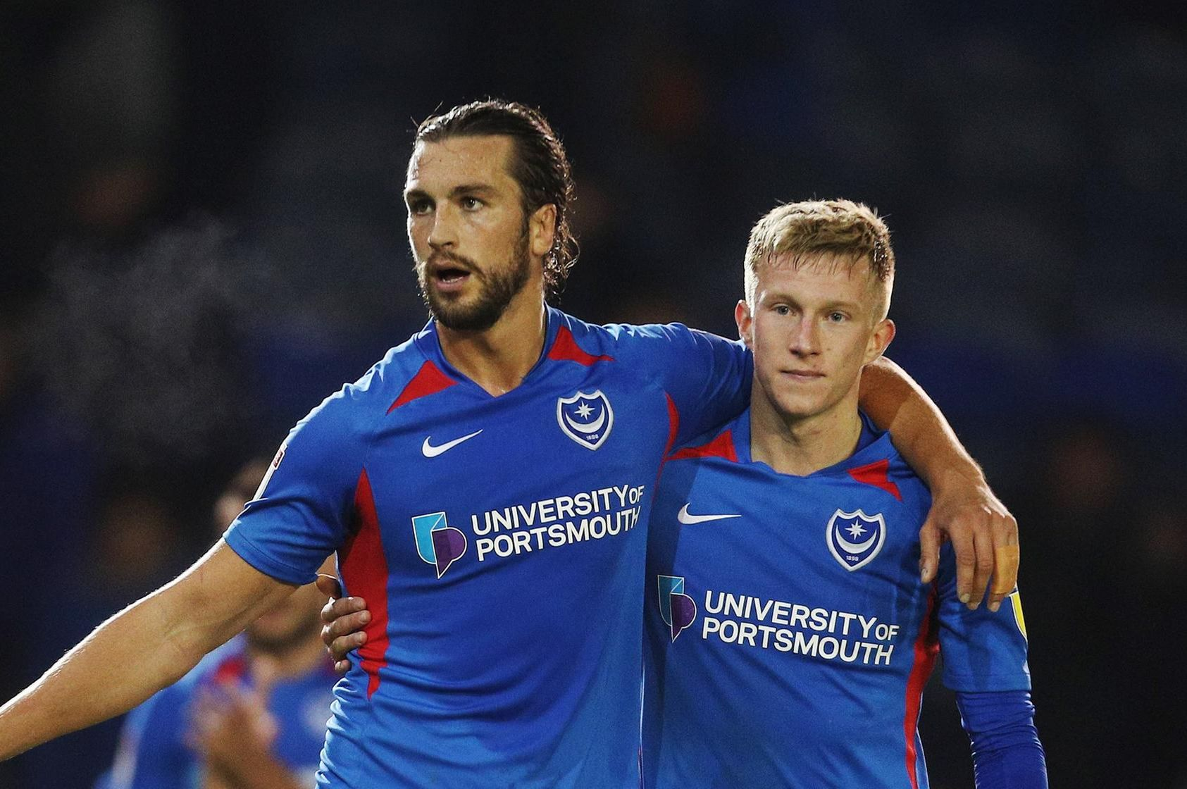 League one - Portsmouth vs Lincoln City - 22/10/19'Portsmouth's Christian Burgess  and Portsmouth's Ross McCrorie