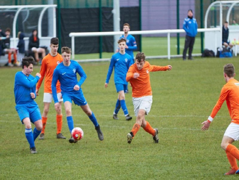 Ollie Sewell in Rugby Town U18s Juniors game against Stratford Town Colts Blue