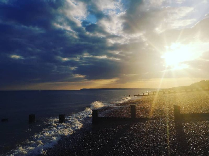 Bexhill beach just before sunset SUS-190404-145150001