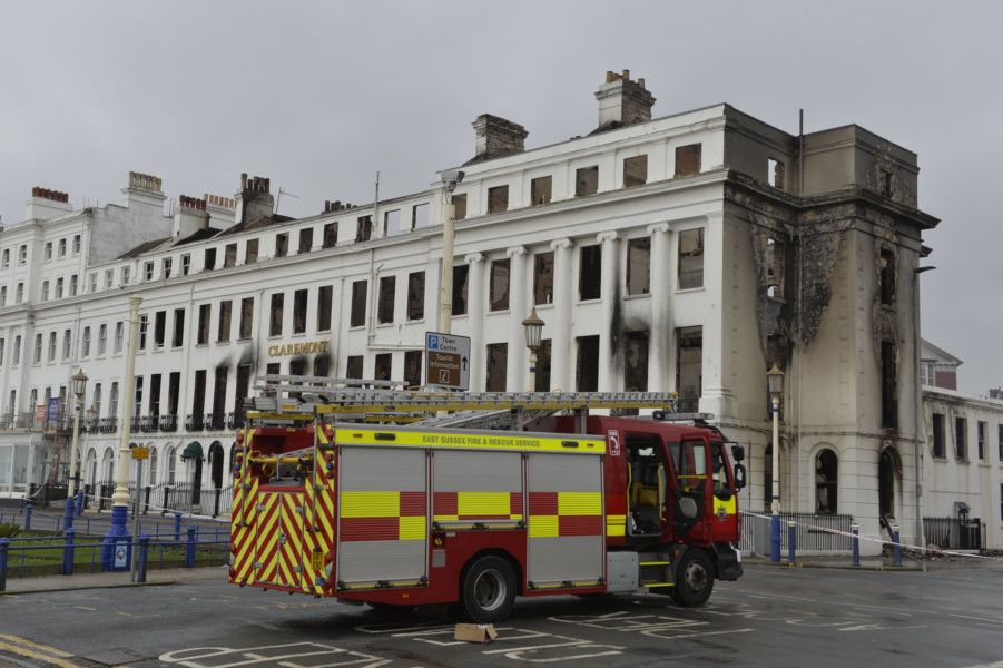 The Claremont. Eastbourne hotel fire. Picture: Jon Rigby SUS-191123-122033001