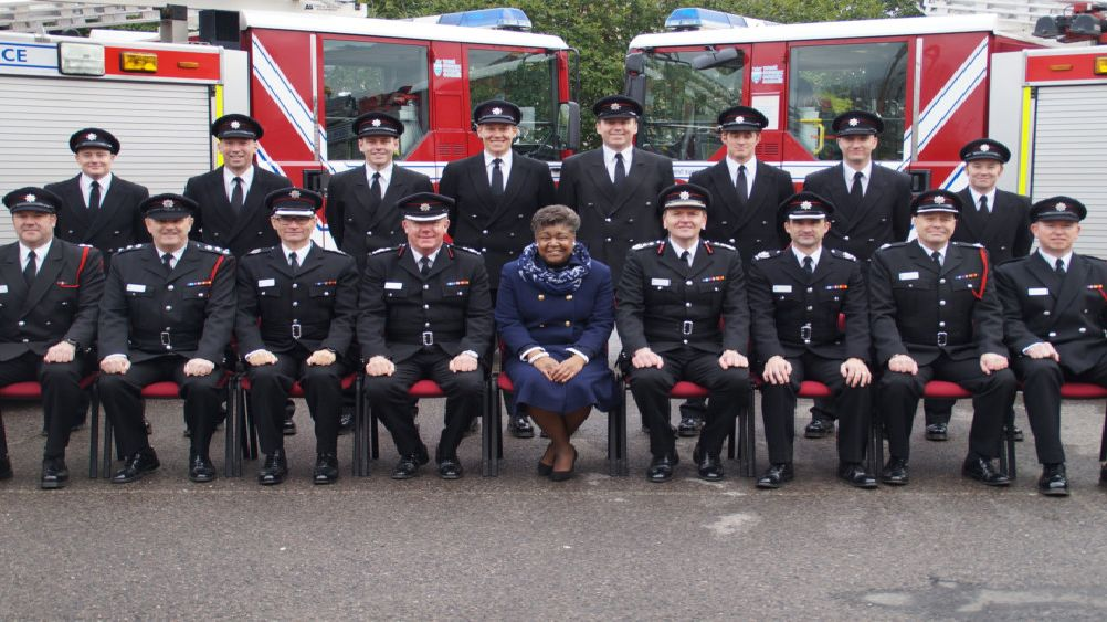 Debbie Kennard, West Sussex County Council cabinet member, centre at the pass out parade