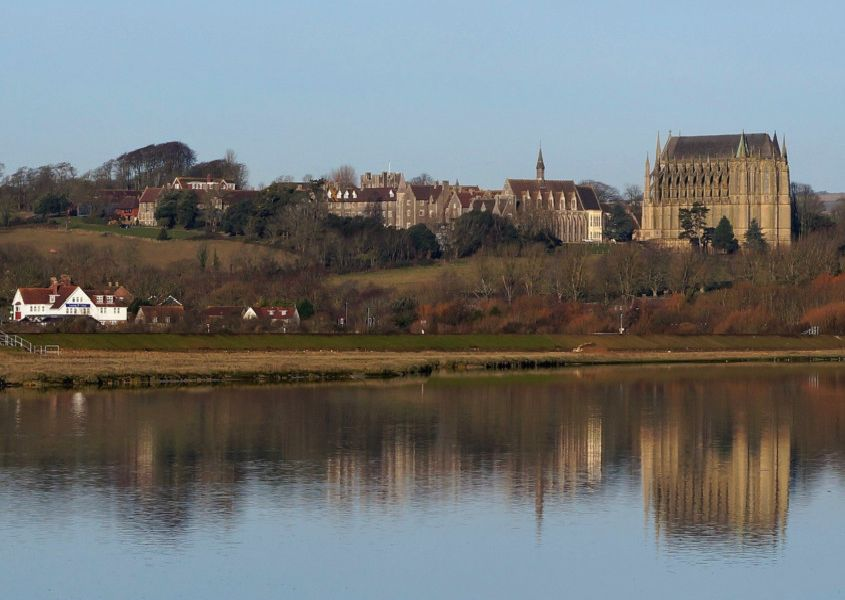 Linda Barker took this wonderful snap of Lancing College during an early morning walk by the River Adur