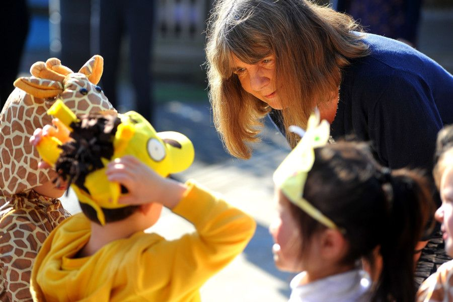 Julia Donaldson's visit to Seaside Primary School, Lancing. Picture: Steve Robards SR1904950
