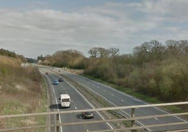 The A27 will be closed for six nights between Clapham and the A24 (Picture: Google Maps)