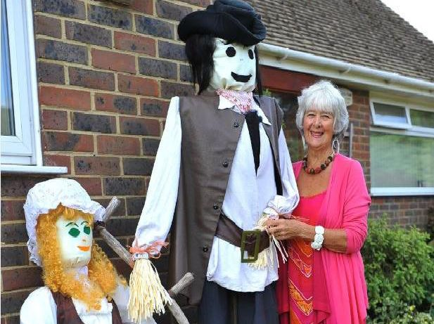 The scarecrow display in Lancing