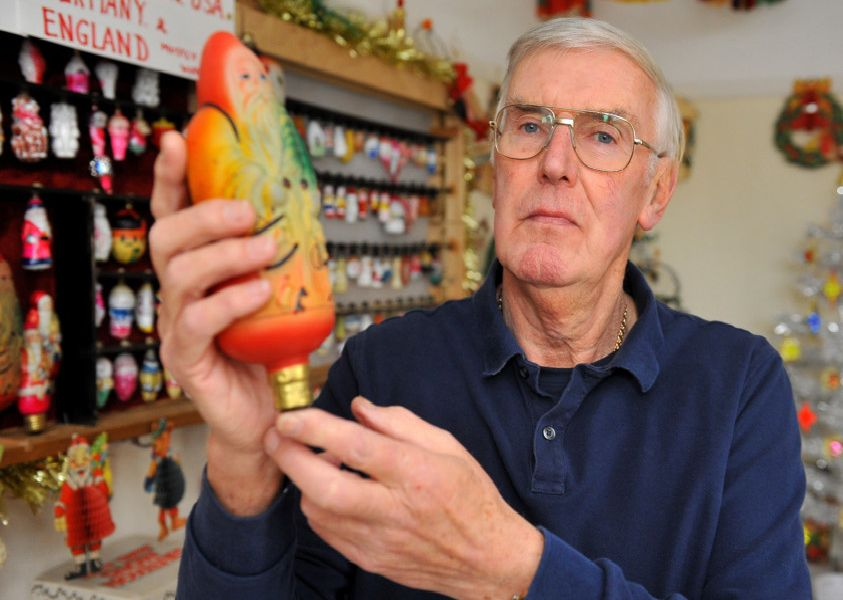 Wilf Brooks opens his Christmas museum. Pic Steve Robards