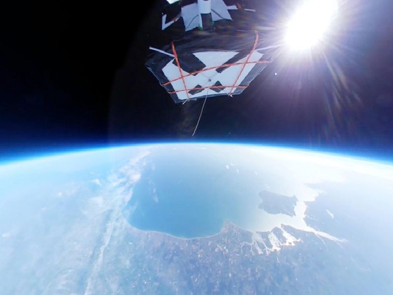 A camera sent into space by students from Worthing has captured some stunning photos of the earth from above. Twitter: @CHITS_Project