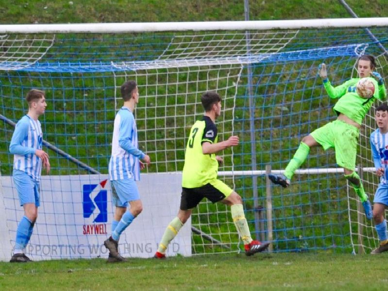 Action from Worthing United v Wick.