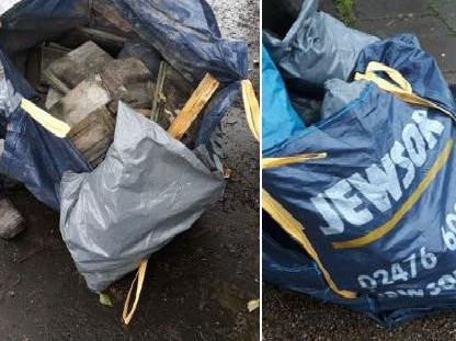 The fly-tipping in Worthing. Photo: Adur and Worthing Councils/Twitter