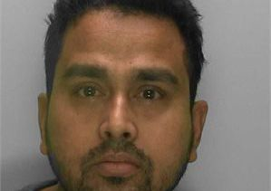 Jakhir Hussain from West Sussex has been jailed for 20 years.  Picture: Bedfordshire Police
