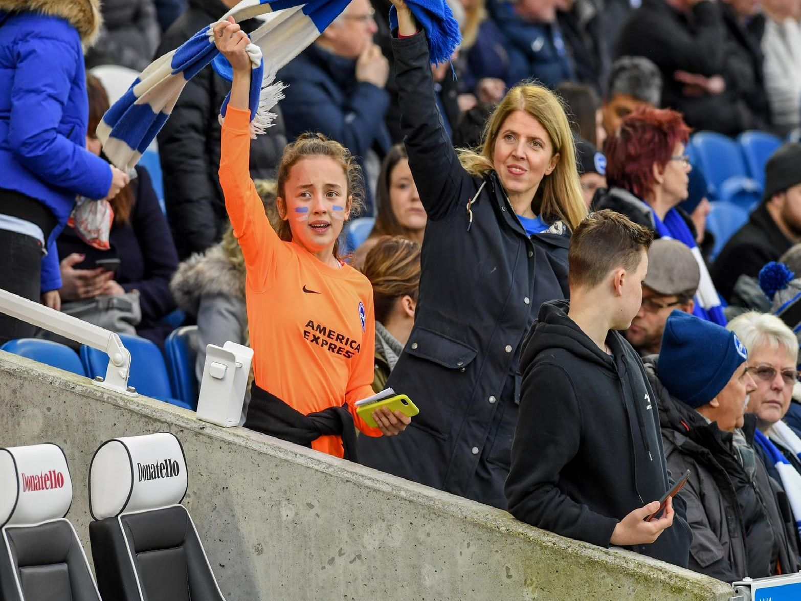 Albion fans at the Amex