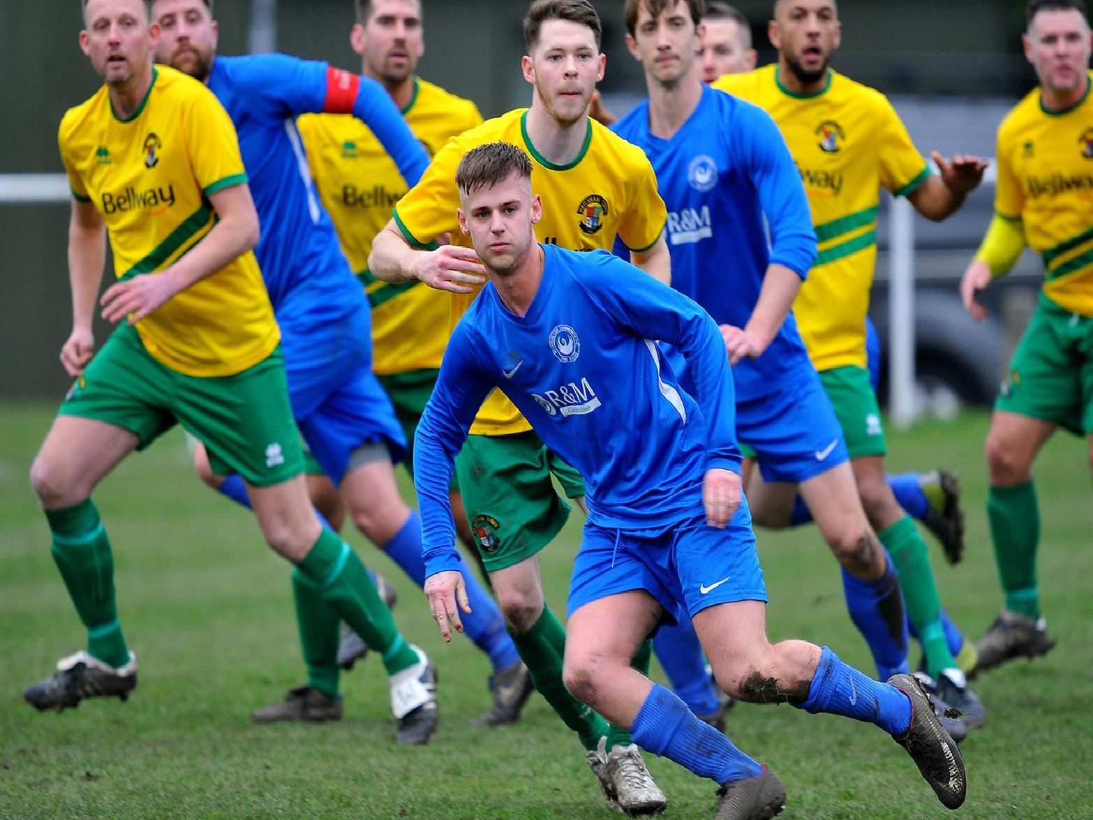 Action from Storrington v Hailsham Town