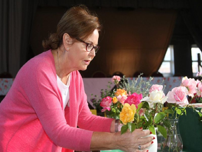 Chairman Pam Roy-Jones at the horticultural show