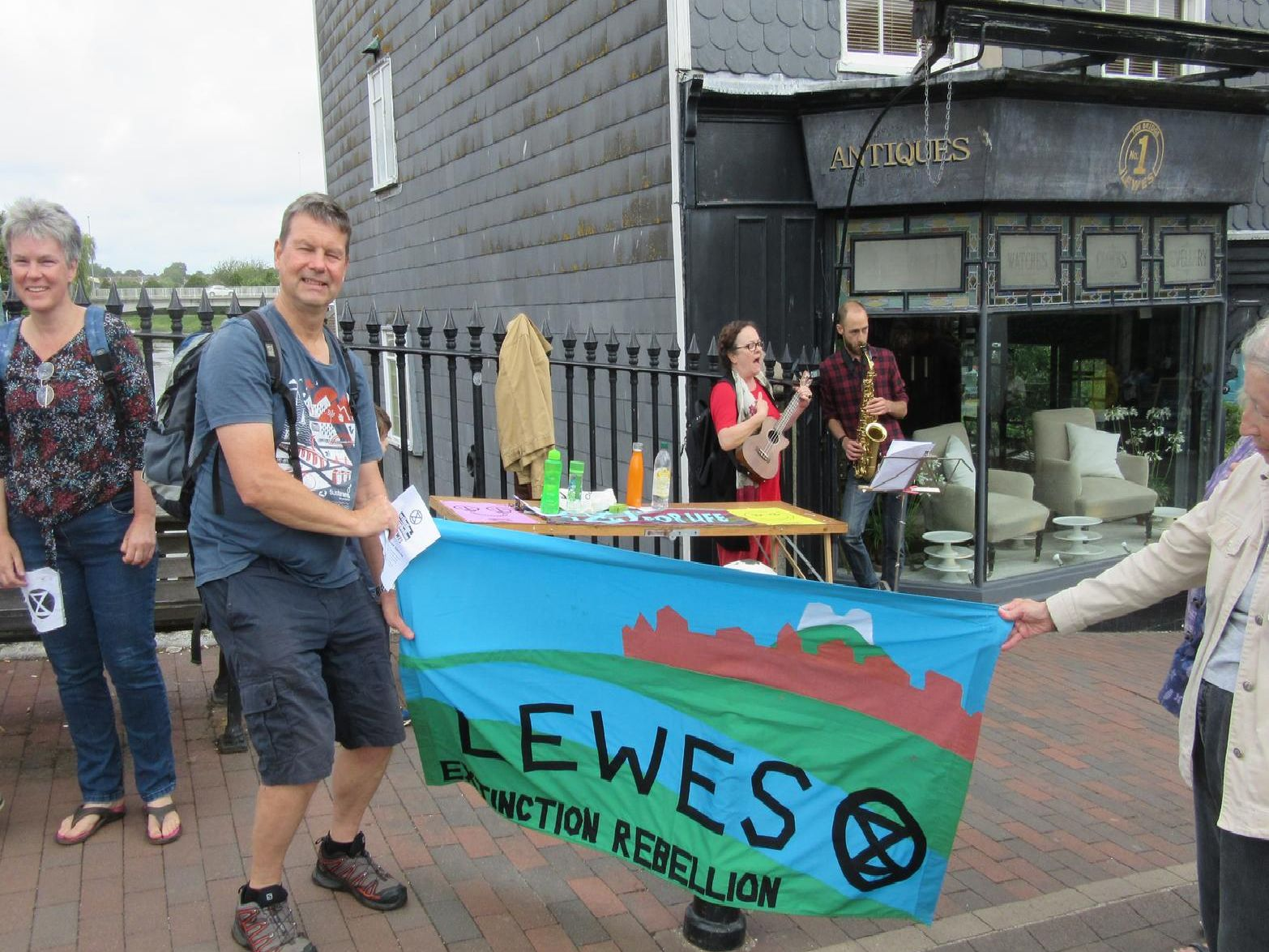 XR Lewes Street Theatre Group in the town on Saturday (July 20)