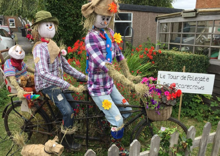 Polegate Scarecrow Festival. Overall Best Scarecrow prize went to Debbie Gearing in New Road. SUS-190108-094126001