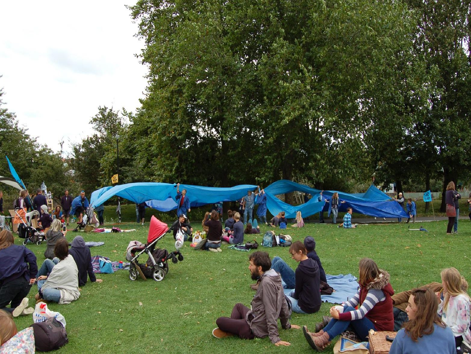 Protesters at Malling Recreation Ground in Lewes on Saturday
