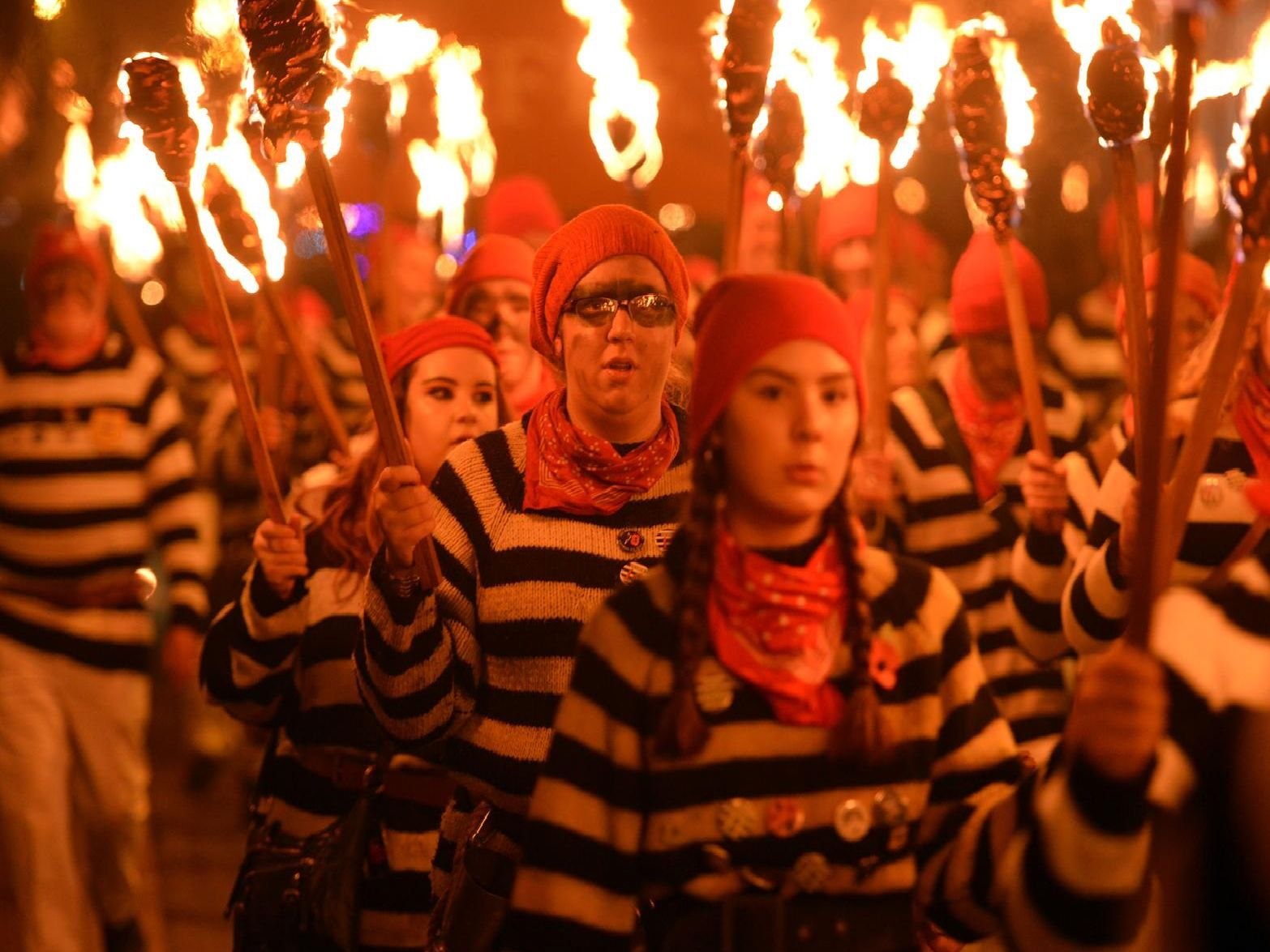 Lewes Bonfire 2018. Photograph: Peter Cripps