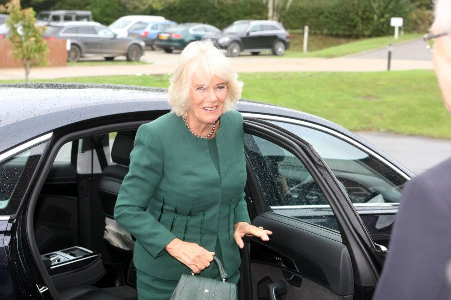 The Duchess of Cornwall in Sussex today
