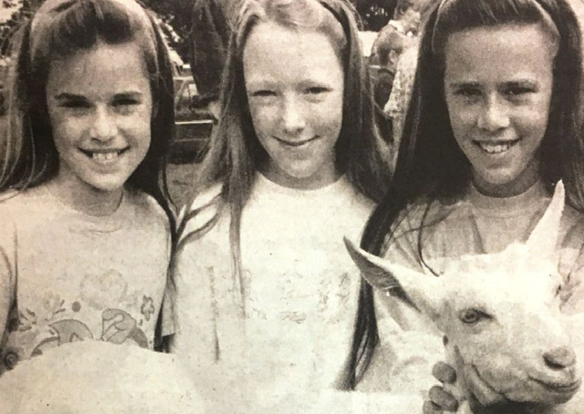 Kathy Lee, Prscilla Lee and Jeanette Booth at the Clogher Valley Agricultural Show in 1994.