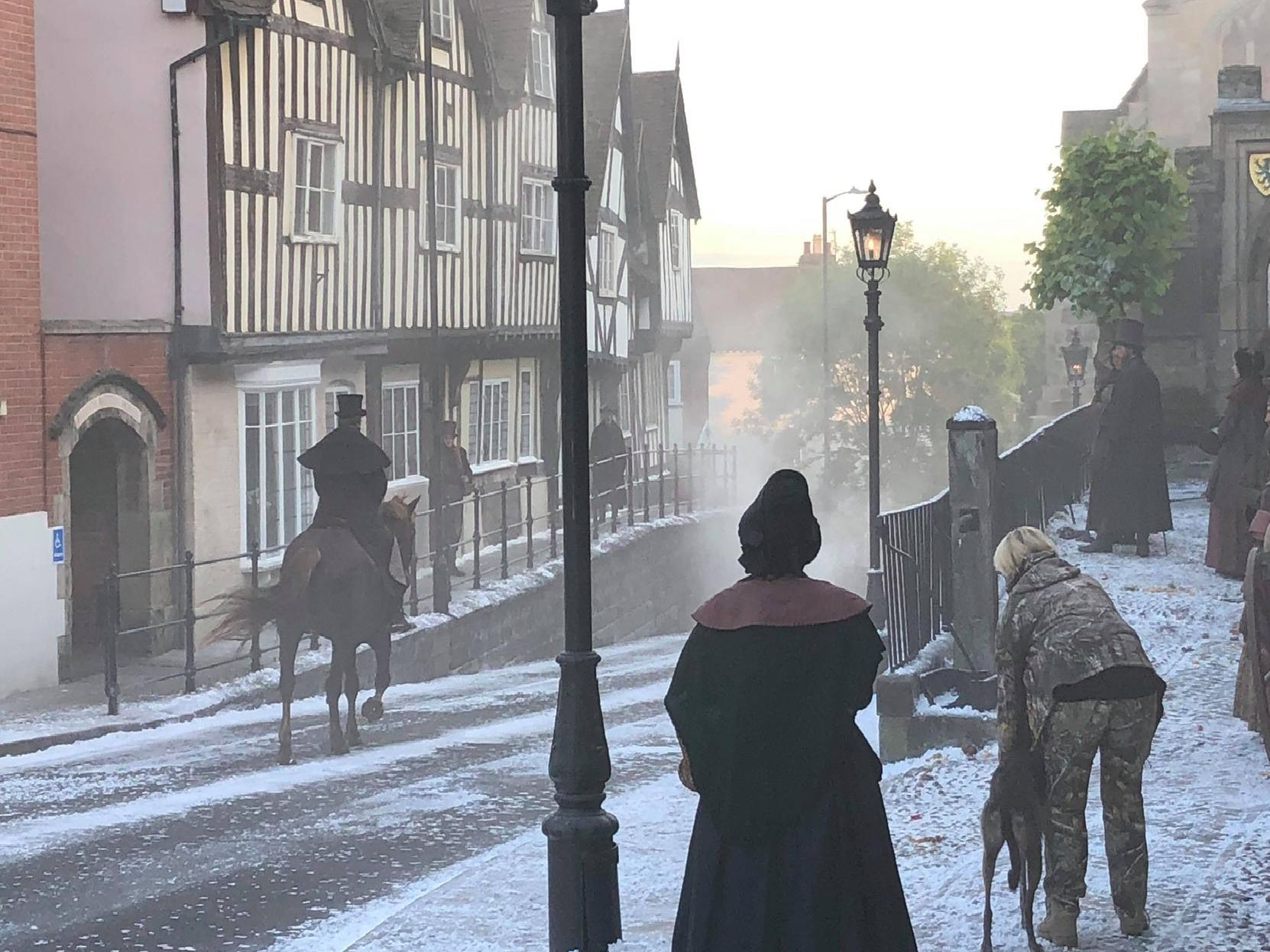 Filming of 'A Christmas Carol' in Warwick. Photo by Mandy Littlejohn.